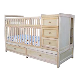 Daphne 4-in-1 Crib n Bed In Natural Finish By AFG Baby Furniture