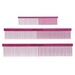Master Grooming Greyhound Fine/Coarse Comb, Pink
