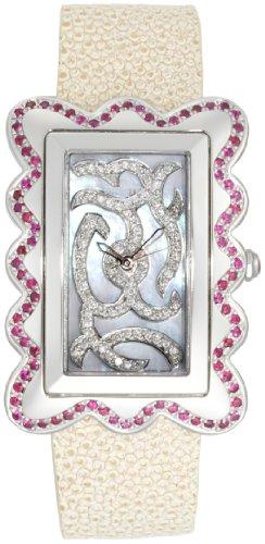 Swisstek Women's SK47912L Melange Ruby and Diamond Limited Edition Watch