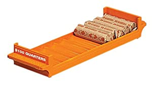 PM Company 997228 Plastic Storage Tray, $100 Rolled Quarters - 6 Pack