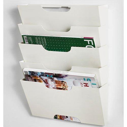 ikea kvissle wall magazine file rack white metal home decor. Black Bedroom Furniture Sets. Home Design Ideas