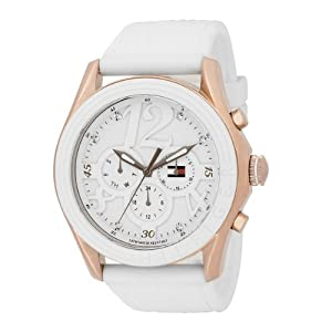 Tommy Hilfiger Women's 1780967 Sport Rose Gold Plated white Dial Watch