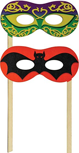 Silly Stick - Bat/Mardi Gras Mask - Made in USA