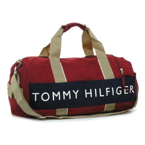 (トミー ヒルフィガー) TOMMY HILFIGER CANVAS - CORE COLORS ボストンバッグ #L500080 600 RED / NAVY 並行輸入品
