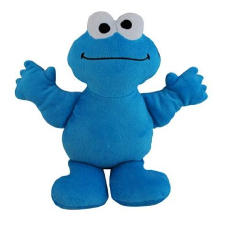 "Sesame Street 9"" Cookie Monster Plush Doll with Bean Fill Bottom - 1"