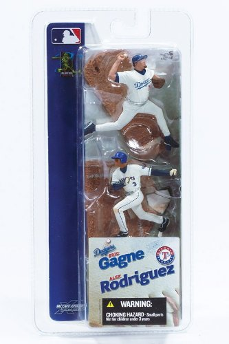ALEX RODRIGUEZ / TEXAS RANGERS & ERIC GAGNE / LOS ANGELES DODGERS * 3 INCH * McFarlane's MLB Sports Picks Series 1 Mini Figure 2-Pack