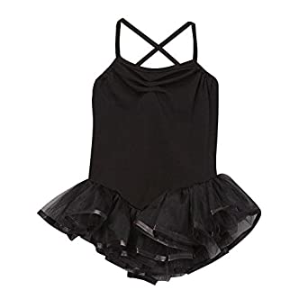 Girls Black Ballerina Tutu Leotard (Choose Size)