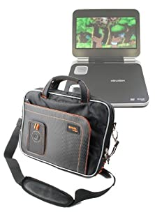 "buy Duragadget Water Resistant Two Tone Blk+Org Portable Dvd Carry-Case With Extra Storage Pockets For Bush 9 Inch Widescreen Portable Dvd Player, Buyinsummer 9.5"" Portable Dvd Player Swivel & Flip, Curtis Dvd7014Uk Portable 7 Inch Dvd Player, Goodmans Pdv310"