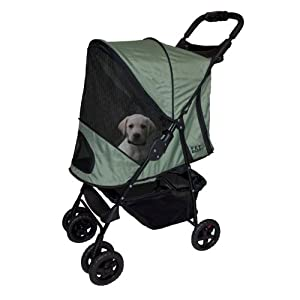 Pet Gear Happy Trails Stroller for Pets Up to 30-Pound, Sage