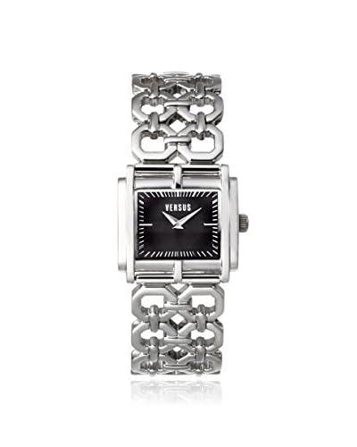 Versus by Versace Women's SGE020012 Moda Silver/Black Stainless Steel Watch