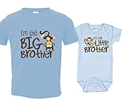 Monkey I\'m the Big Brother Tshirts, Includes 12-18 mo and 0-3 mo