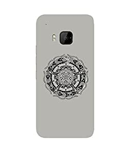 Grey Motif HTC One M9+ Case