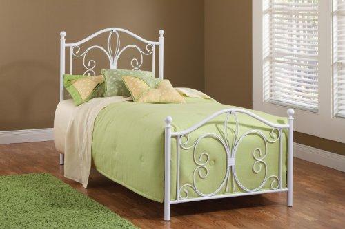 Hillsdale Furniture 1687Btw Ruby Bed Set, Twin, Textured White