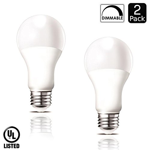 Luxrite LR21081 (2-Pack) 14-Watt Dimmable LED A21 Light Bulb, 100-Watt Equivalent, Warm White 2700K, 1500 Lumens, Medium Screw Base (E26), UL-Listed (Flourescent Bulbs Dimmable compare prices)