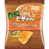 カルビー お・と・なピザポテト 魚介のトマトクリームソース味X1箱(12袋)