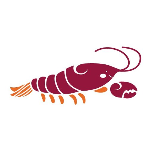 Lobster Stencil For Painting A Lobster On The Walls Of An Ocean Mural front-941620