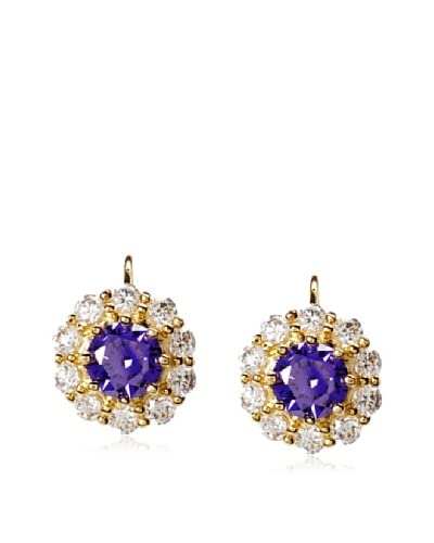 CZ by Kenneth Jay Lane Leverback Round Earrings As You See