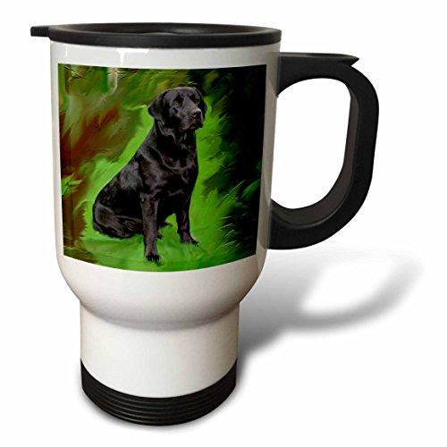 3dRose Black Labrador Retriever Travel Mug, 14-Ounce
