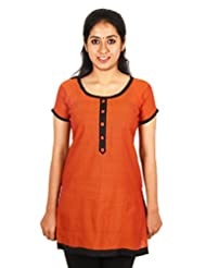 Aashitha Women's Poly Cotton Straight Kurta - B0179R6EU6