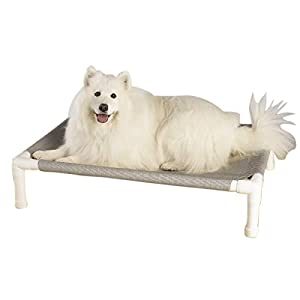 PetEdge PVC and Nylon Pipe Dream Elevated Dog Bed, Medium