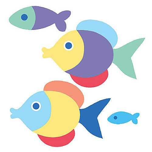 Wallies 12524 Olive Kids Somethin' Fishy Wallpaper Cutout - 1