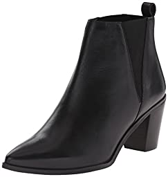 Dune London Women\'s Preslee Chelsea Boot, Black Leather, 6 M US