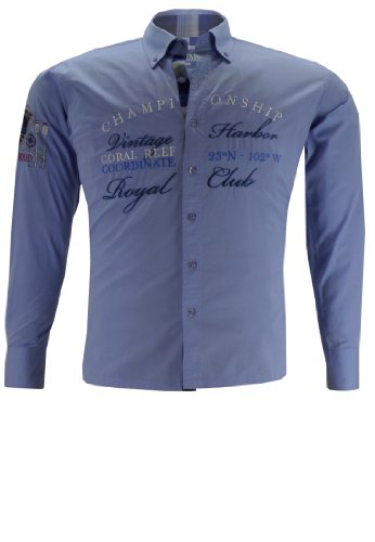 kenmore-camicia-casual-uomo-blau-50