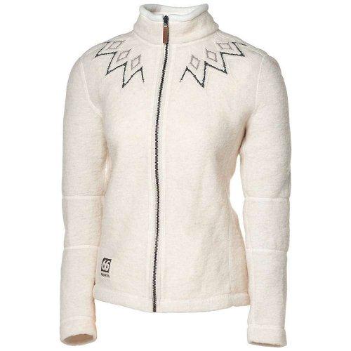 66 Degrees North Women'S Kaldi Sweater,White,Medium