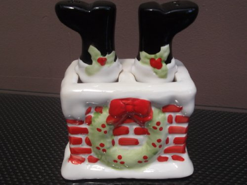 Christmas Salt and Pepper Pots - Santa stuck in the Chimney!