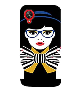 PrintVisa Tom Boy Nerdy Girl Art 3D Hard Polycarbonate Designer Back Case Cover for LG Google Nexus 5