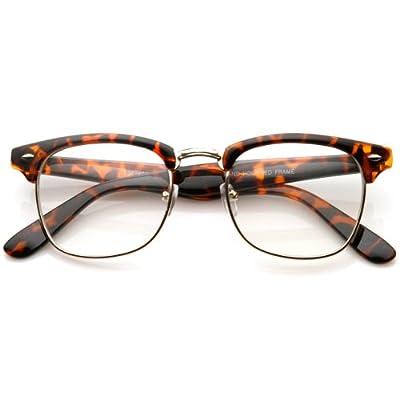 zeroUV - Vintage Inspired Classic Horn Rimmed Nerd Horn Rimmed UV400 Clear Lens Glasses