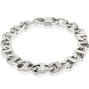 Men's Stainless Steel Mariner Chain Link Bracelet 8 3/4 inches