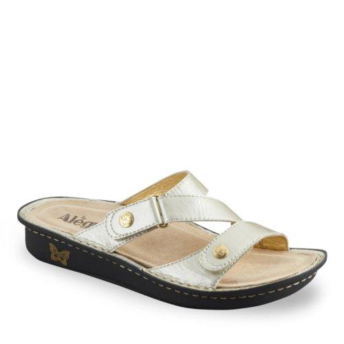 Alegria Women's Venice Slide Sandals, PEARL PATENT, 41 M/B