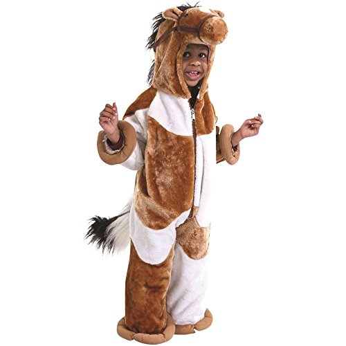 Brown & White Pinto Horse Toddler Costume
