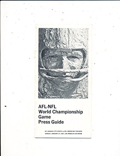 1967 Superbowl 1 Green Bay Packers Media Press Guide (1967 Super Bowl Program compare prices)