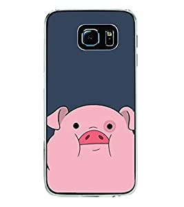 Cute Pig 2D Hard Polycarbonate Designer Back Case Cover for Samsung Galaxy S6 Edge+ :: Samsung Galaxy S6 Edge Plus :: Samsung Galaxy S6 Edge+ G928G :: Samsung Galaxy S6 Edge+ G928F G928T G928A G928I