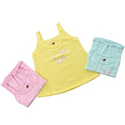 Baby Bucket Printed Sleeveless Vests 3 Pcs. Set (color may vary.)9-12 Months, Yellow