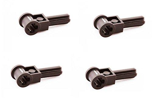 Lego Parts: (4) Black Technic Pole Reverser Handles