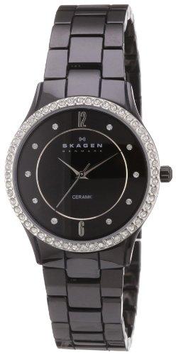 Skagen - EU347SBXBC - Montre Femme - Quartz Analogique - Bracelet céramique Noir