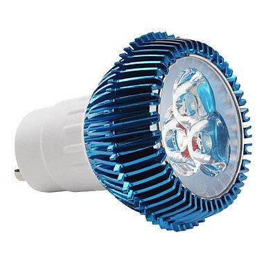 Gu10 3*1W 3-Led 270Lm 6000-6500K White Light Bulb (85-265V)