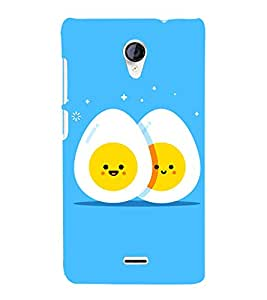 Egg Design 3D Hard Polycarbonate Designer Back Case Cover for Micromax Canvas Unite 2 A106
