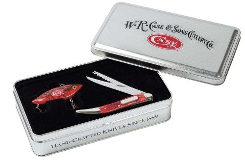 Case Cutlery 06025 Case Fishing Knife, Dark Red Bone