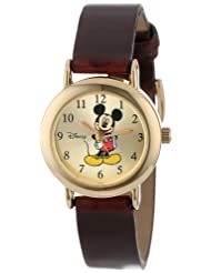 Disney Womens MCK614 Mickey Goldtone