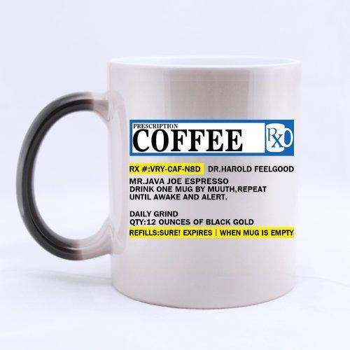 Funny Gift - Funny Big Mouth Toys The Prescription Coffee Morphing Coffee Mug,Tea Cup, Ceramic Material Mugs,11Oz