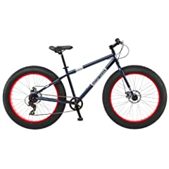 Buy Mongoose Mens Dolomite Fat Boys Tire Cruiser Bike, Blue, 26 inch by Mongoose