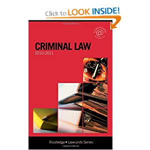 Criminal Lawcards -  by Routledge