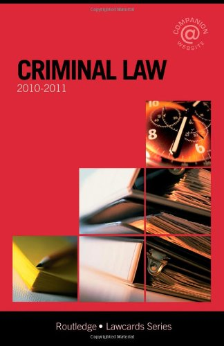 Criminal Lawcards 2010-2011