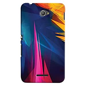 ColourCrust Sony Xperia E4 Mobile Phone Back Cover With Abstract Art - Durable Matte Finish Hard Plastic Slim Case