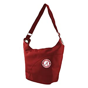 NCAA Alabama Crimson Tide Ladies Color Sheen Hobo Purse, Red by Littlearth