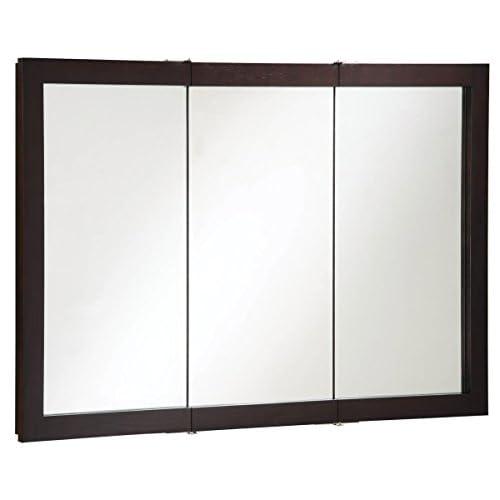 Design House 541367 Ventura Tri-View Medicine Cabinet, Espresso, 48-Inch by 30-Inch